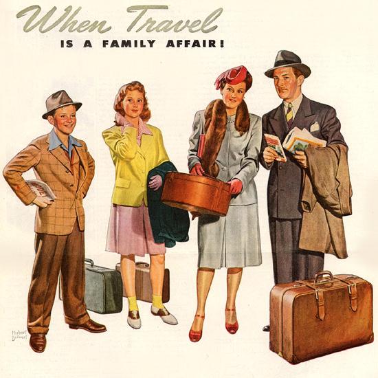 Detail Of Pennsylvania Railroad Travel Family Affair 1946