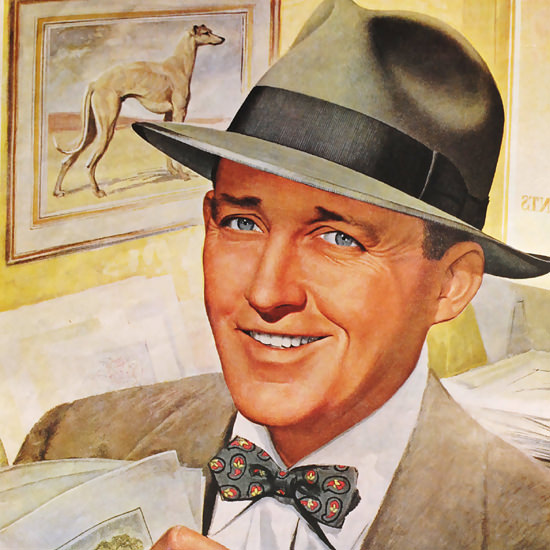 Detail Of Stetson Hat Bing Crosby Whippet Sycamore - Detail-Of-Stetson-Hat-Bing-Crosby-Whippet-Sycamore