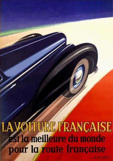la voiture francaise est la meilleure du mond mad men art vintage ad art collection. Black Bedroom Furniture Sets. Home Design Ideas