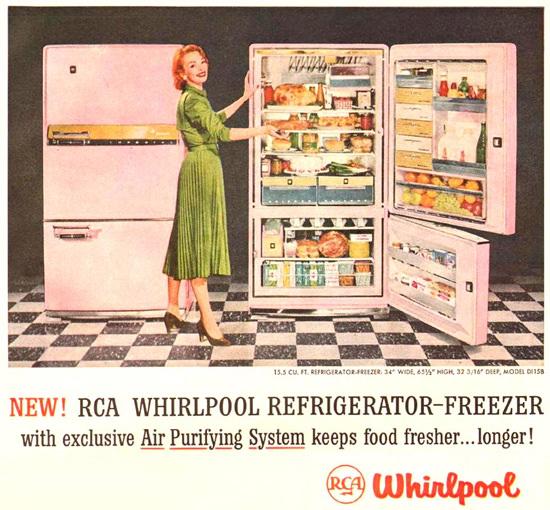 Whirlpool Refrigerator Freezer Air Purifying 1957