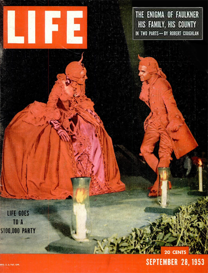100 000 Dollar Party 28 Sep 1953 Copyright Life Magazine | Life Magazine Color Photo Covers 1937-1970