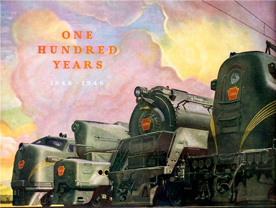 100 Years Train Railroad 1846-1946 | Vintage Travel Posters 1891-1970
