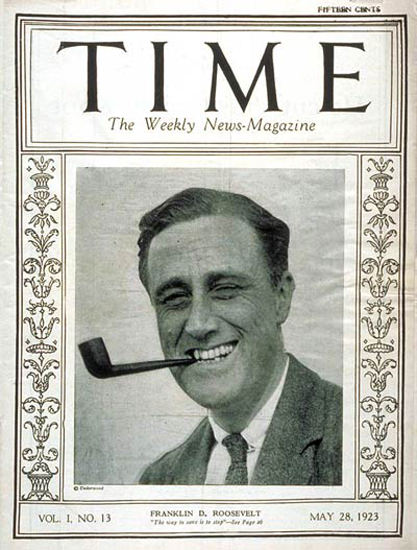1923-05 Franklin D Roosevelt Copyright Time Magazine | Time Magazine Covers 1923-1970