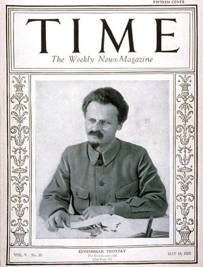 1925-05 Leon Trotsky Copyright Time Magazine | Time Magazine Covers 1923-1970