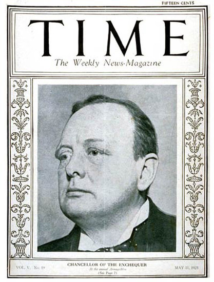 1925-05 Winston Churchill Copyright Time Magazine | Time Magazine Covers 1923-1970