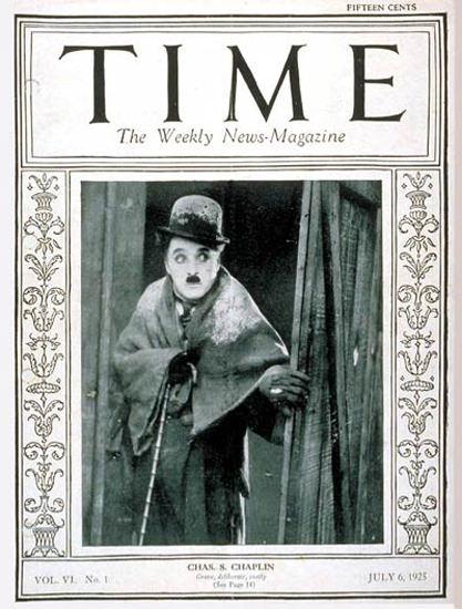 1925-07 Charlie Chaplin Copyright Time Magazine | Time Magazine Covers 1923-1970
