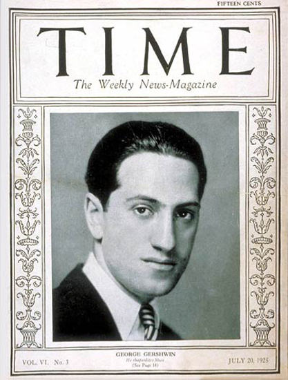 1925-07 George Gershwin Copyright Time Magazine | Time Magazine Covers 1923-1970
