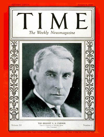1928-01 Thomas Campbell Copyright Time Magazine | Time Magazine Covers 1923-1970