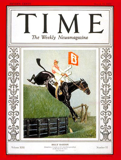 1929-03 Billy Barton Copyright Time Magazine | Time Magazine Covers 1923-1970