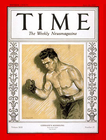 1929-06 Max Schmeling Boxing Copyright Time Magazine | Time Magazine Covers 1923-1970