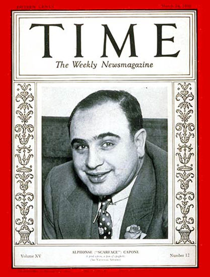 1930-03 Al Capone Copyright Time Magazine | Time Magazine Covers 1923-1970