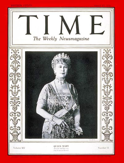 1930-03 Queen Mary Copyright Time Magazine | Time Magazine Covers 1923-1970