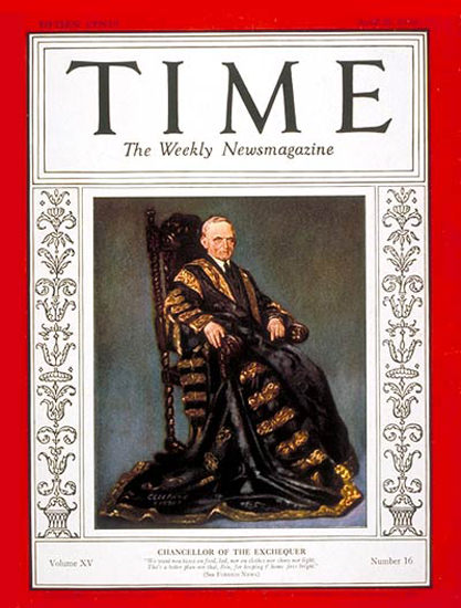 1930-04 Philip Snowden Copyright Time Magazine | Time Magazine Covers 1923-1970