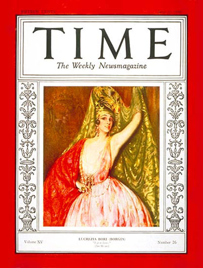 1930-06 Lucrezia Bori Copyright Time Magazine | Time Magazine Covers 1923-1970