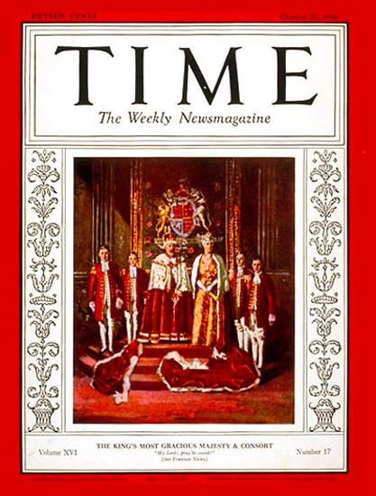 1930-10 King George V Queen Mary Copyright Time Magazine | Time Magazine Covers 1923-1970