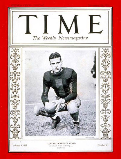 1931-11 Barry Wood Football Copyright Time Magazine | Time Magazine Covers 1923-1970
