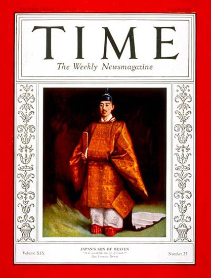 1932-06 Emperor Hirohito Copyright Time Magazine | Time Magazine Covers 1923-1970