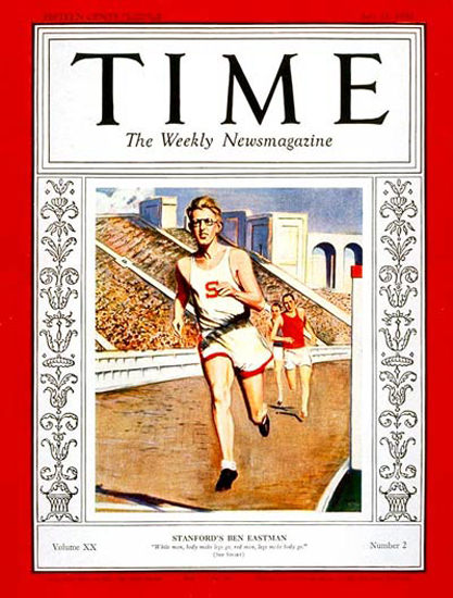1932-07 Ben Eastman Copyright Time Magazine | Time Magazine Covers 1923-1970