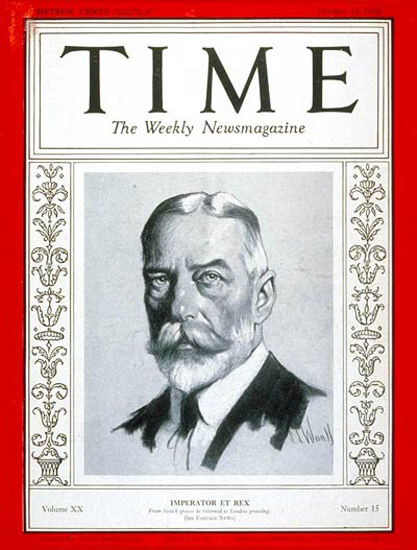 1932-10 King George V Copyright Time Magazine | Time Magazine Covers 1923-1970