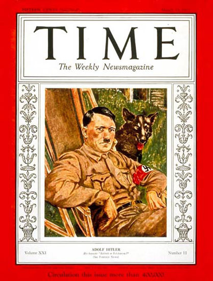 1933-03 Adolf Hitler Copyright Time Magazine | Time Magazine Covers 1923-1970