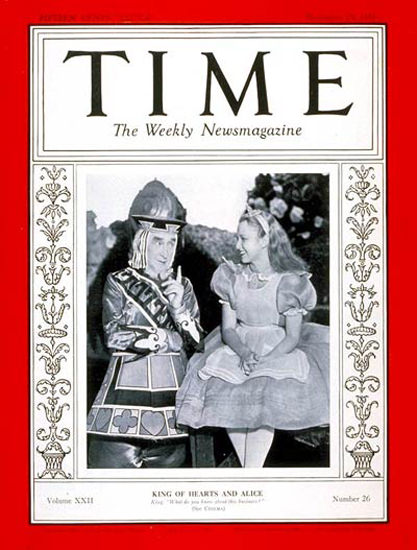 1933-12 Alice in Wonderland Copyright Time Magazine | Time Magazine Covers 1923-1970