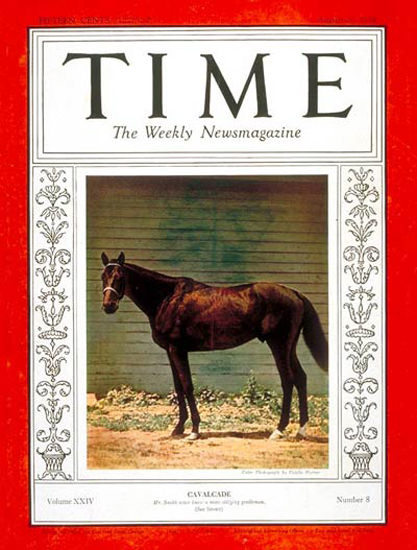 1934-08 Cavalcade Copyright Time Magazine | Time Magazine Covers 1923-1970
