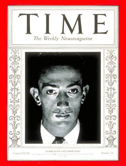 1936-12 Salvador Dali Copyright Time Magazine | Time Magazine Covers 1923-1970