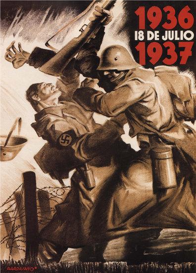 1936 18 De Julio 1937 Spain Espana | Vintage War Propaganda Posters 1891-1970