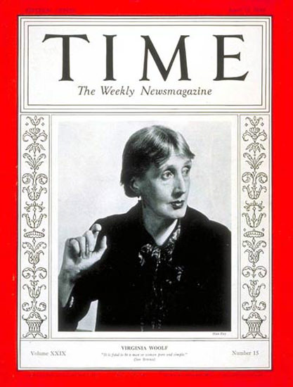 1937-04 Virginia Woolf Copyright Time Magazine | Time Magazine Covers 1923-1970