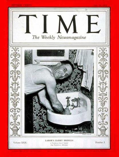 1937-07 Harry Bridges Copyright Time Magazine | Time Magazine Covers 1923-1970