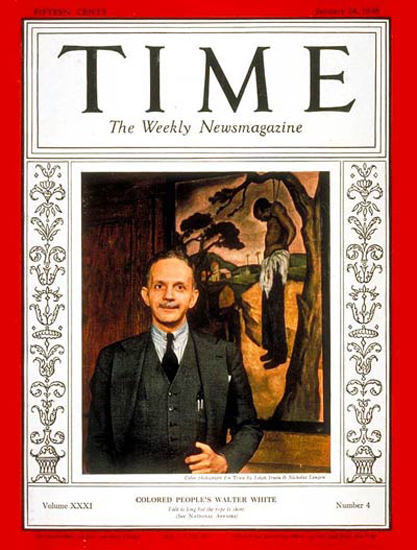 1938-01 Walter F White Copyright Time Magazine | Time Magazine Covers 1923-1970