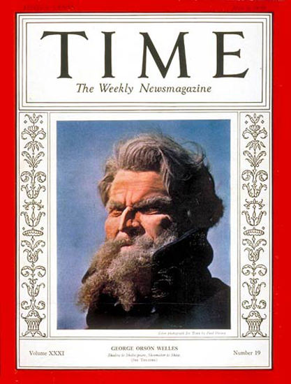 1938-05 Orson Welles Copyright Time Magazine | Time Magazine Covers 1923-1970