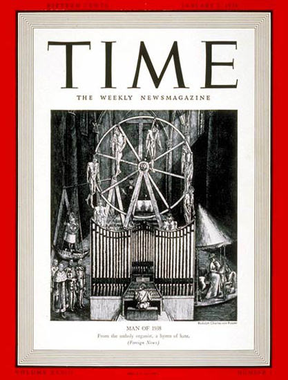 1939-01 Adolph Hitler Copyright Time Magazine | Time Magazine Covers 1923-1970
