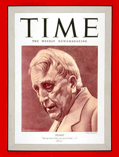 1939-03 William R Hearst Copyright Time Magazine | Time Magazine Covers 1923-1970