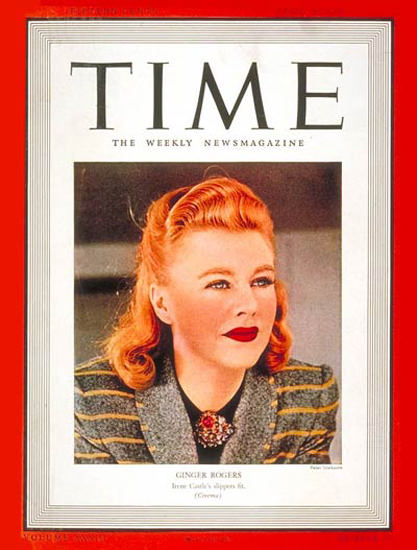 1939-04 Ginger Rogers Copyright Time Magazine | Time Magazine Covers 1923-1970