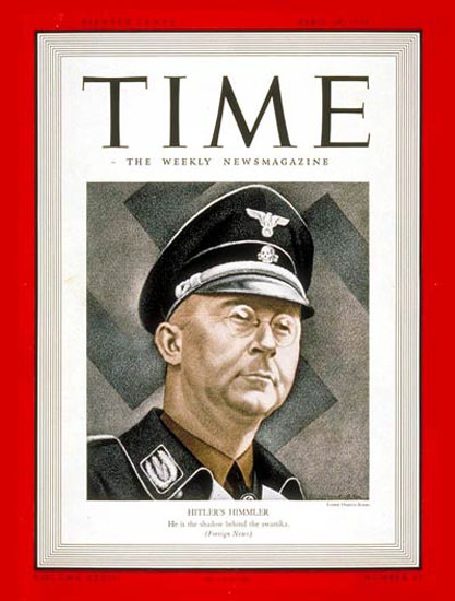 1939-04 Heinrich Himmler Copyright Time Magazine | Time Magazine Covers 1923-1970
