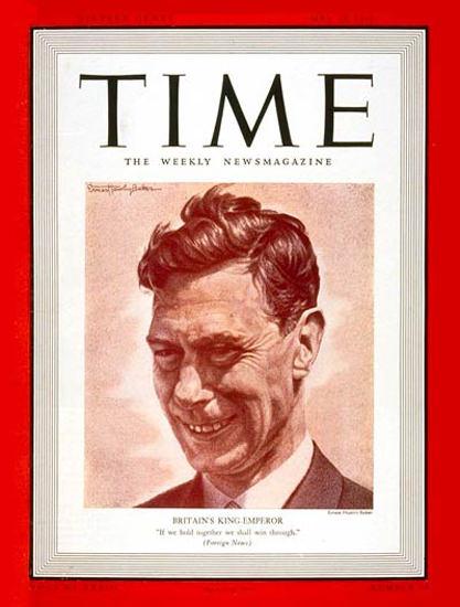 1939-05 King George VI Copyright Time Magazine | Time Magazine Covers 1923-1970