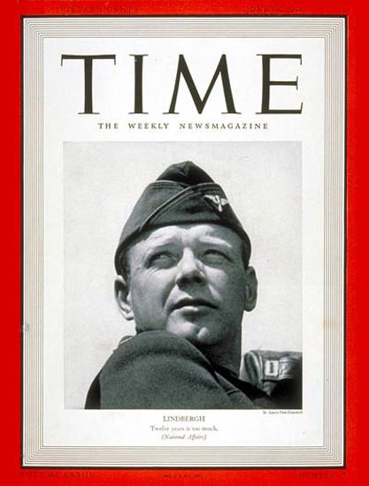 1939-06 Charles A Lindbergh Copyright Time Magazine | Time Magazine Covers 1923-1970
