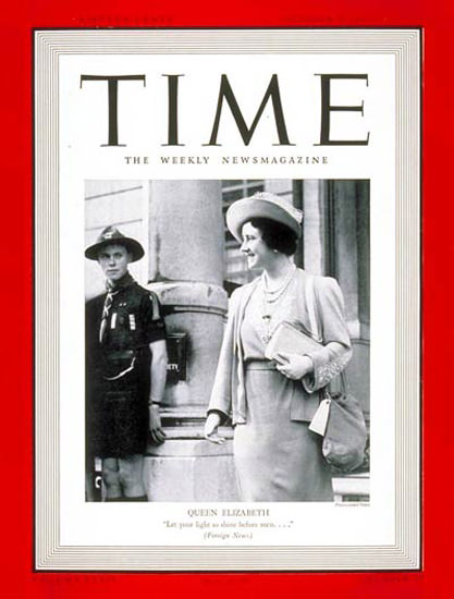 1939-10 Queen Elizabeth Copyright Time Magazine | Time Magazine Covers 1923-1970