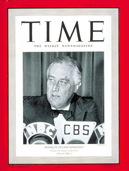 1940-06 Franklin Delano Roosevelt Copyright Time Magazine | Time Magazine Covers 1923-1970