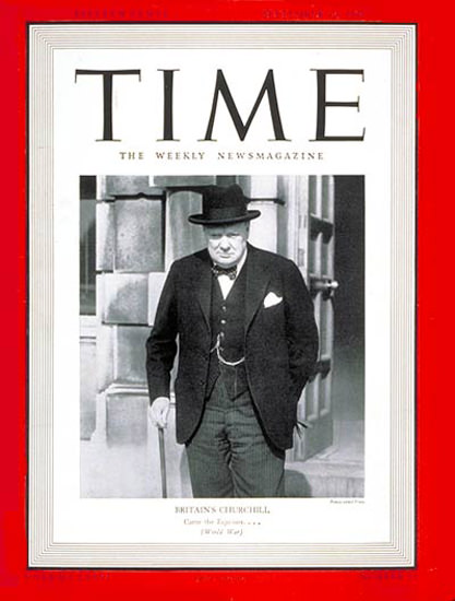 1940-09 Winston Churchill Copyright Time Magazine | Time Magazine Covers 1923-1970