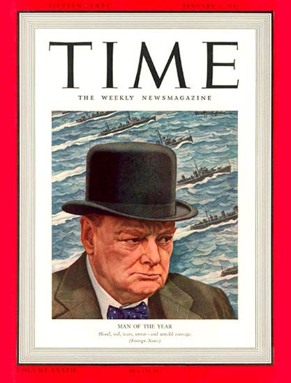 1941-01 Winston Churchill Copyright Time Magazine | Time Magazine Covers 1923-1970