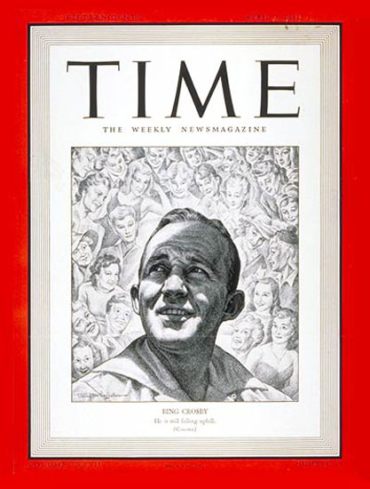 1941-04 Bing Crosby Copyright Time Magazine | Time Magazine Covers 1923-1970
