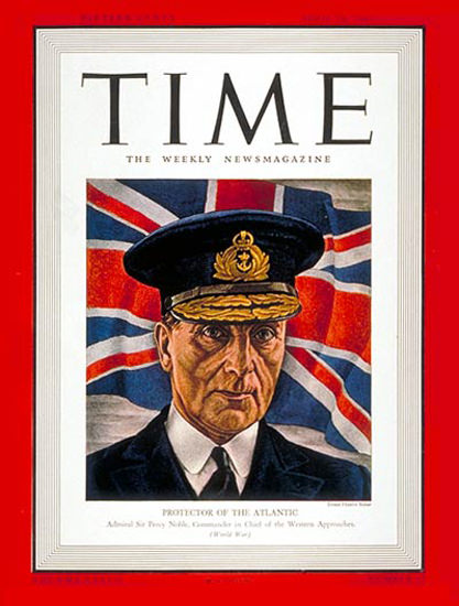 1941-04 Sir Percy Noble Copyright Time Magazine | Time Magazine Covers 1923-1970