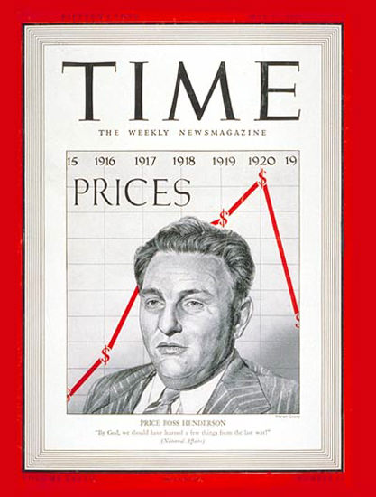 1941-05 Leon Henderson Copyright Time Magazine | Time Magazine Covers 1923-1970