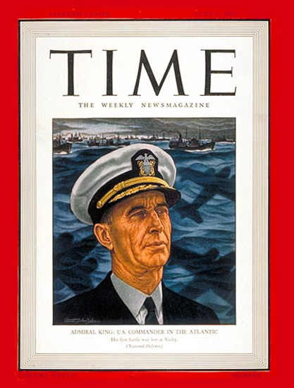 1941-06 Admiral Ernest J King Copyright Time Magazine | Time Magazine Covers 1923-1970