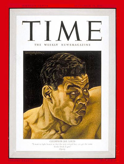 1941-09 Joe Louis Boxing Copyright Time Magazine | Time Magazine Covers 1923-1970