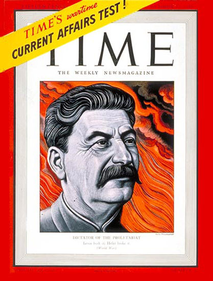 1941-10 Joseph Stalin Copyright Time Magazine | Time Magazine Covers 1923-1970