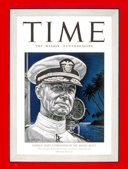 1941-11 Admiral Thomas Hart Copyright Time Magazine | Time Magazine Covers 1923-1970