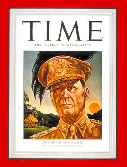 1941-12 General MacArthur Copyright Time Magazine | Time Magazine Covers 1923-1970